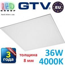 Светодиодная LED панель GTV, 36W, 4000К, IP44, толщина - 8мм, INNOVO. ПОЛЬША!!! Premium. Гарантия - 3 года