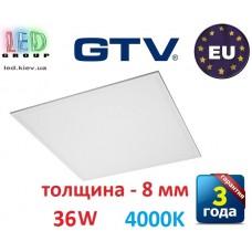 Светодиодная LED панель GTV, 36W, 4000К, IP44, толщина - 8мм, PREMIO. ПОЛЬША!!! Premium. Гарантия - 3 года