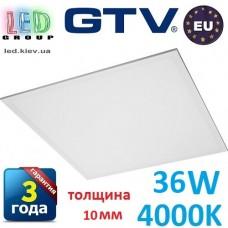 Светодиодная LED панель GTV, 36W, 4000К, IP44, толщина - 10мм, PRINCE. ПОЛЬША!!! Premium. Гарантия - 3 года