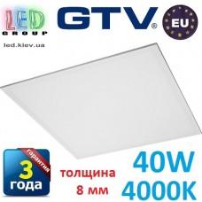Светодиодная LED панель GTV, 40W, 4000К, IP44, толщина - 8мм, INNOVO. ПОЛЬША!!! Premium. Гарантия - 3 года