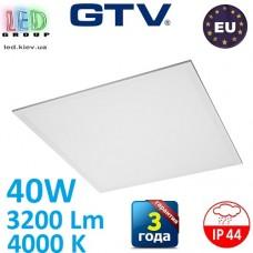 Светодиодная LED панель GTV, 40W, 4000К, IP44, толщина - 8мм, EMC+, PF>0,9, RA≥90, PRINCE. ЕВРОПА!!! Premium. Гарантия - 3 года
