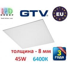 Светодиодная LED панель GTV, 45W, 6400К, IP44, толщина - 8мм, PREMIO. ПОЛЬША!!! Premium. Гарантия - 3 года
