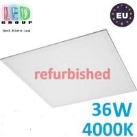 Светодиодная LED панель Refurbished «отремонтированная»  36W, 4000К, IP20, толщина - 10мм.