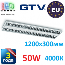 Светодиодная LED панель GTV, 50W, 4000К, IP20, встраиваемая, CELTA. ПОЛЬША!!! 1200x300мм. Гарантия - 3 года. Premium.