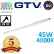 Светодиодный LED светильник GTV герметичный 45W, IP66, 4000K, 1500мм, LUMIA LED. ПОЛЬША!!! Гарантия - 5 Лет