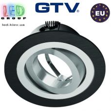 Светильник/корпус GTV, потолочный, встраиваемый, регулируемый, алюминий, IP20, круглый, чёрный, MORENA. ПОЛЬША!!!