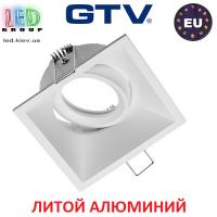 Светильник/корпус GTV, потолочный, встраиваемый, регулируемый, литой алюминий, IP20, квадрат, белый, SALTO. ПОЛЬША!!!