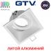 Светильник/корпус GTV, потолочный, встраиваемый, регулируемый, литой алюминий, IP20, квадрат, белый-матовый, SALTO. ПОЛЬША!!!