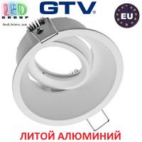 Светильник/корпус GTV, потолочный, встраиваемый, регулируемый, литой алюминий, IP20, круглый, белый, SALTO. ПОЛЬША!!!