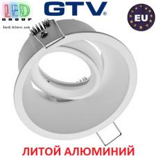 Светильник/корпус GTV, потолочный, встраиваемый, регулируемый, литой алюминий, IP20, круглый, белый-матовый, SALTO. ЕВРОПА!