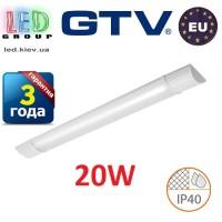 Светодиодный LED светильник GTV, 20W (ЕМС +), 4000К, 600мм, IP40, накладной, ASPEN. ПОЛЬША!!! Гарантия - 3 года