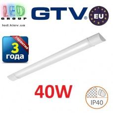 Светодиодный LED светильник GTV, 40W (EMC+), 4000К, 1200мм, IP40, накладной, ASPEN. ЕВРОПА!!!