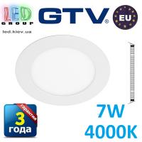 Светодиодный светильник GTV, 7W (EMC+), 4000К, круглый, встраиваемый, ORIS. ПОЛЬША!