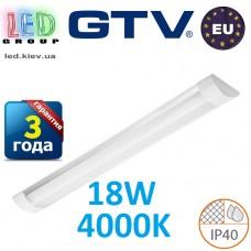 Светодиодный LED светильник GTV, 18W, 4000К, 600мм, IP40, накладной, OLIMPIA. ЕВРОПА!