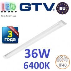 Светодиодный LED светильник GTV, 36W, 6400К, 1200мм, IP40, накладной, OLIMPIA. ПОЛЬША!!! Гарантия - 3 года