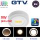 Светодиодный LED светильник GTV, 3 в 1, 9W (6W+3W) EMC+, 3000К, накладной, TWINS. ЕВРОПА!!!
