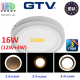 Светодиодный LED светильник GTV, 3 в 1, 16W (12W+4W) EMC+, накладной, TWINS. ЕВРОПА!!!