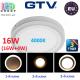 Светодиодный LED светильник GTV, 3 в 1, 16W (12W+4W) ЕМС +, 4000К, накладной, TWINS. ПОЛЬША!!!