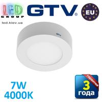 Светодиодный LED светильник GTV, 7W, 4000К, круглый, накладной, IP20, ORIS. ЕВРОПА!!!