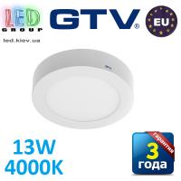 Светодиодный LED светильник GTV, 13W, 4000К, круглый, накладной, IP20, ORIS. ПОЛЬША!!!