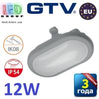 Светодиодный LED светильник GTV, 12W (ЕМС+), 4000K, OVALIO. ЕВРОПА!!!