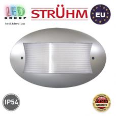 Cветильник/корпус, Strühm Poland, IP54, потолочный, накладной, PC, овальный, серебряный, 1xE27, DAVUS HPD. ЕВРОПА!