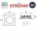 Потолочный светильник/корпус, Strühm Poland, встроенный, алюминий, квадратный, матовый хром, 1хGU5.3, OKTAN D. ЕВРОПА