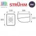 Cветильник/корпус, Strühm Poland, IP54, потолочный, накладной, бакелит + PC, овальный, белый, 1xE27, REX. ЕВРОПА