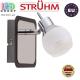 Настенный светильник/корпус, Strühm Poland, накладной, нержавеющая сталь + стекло, хром/венге, RA=100, 1хGU9, EPOS. ЕВРОПА