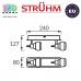 Настенный светильник/корпус, Strühm Poland, накладной, нержавеющая сталь + стекло, хром/венге, RA=100, 2хGU9, EPOS. ЕВРОПА!