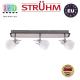 Настенный светильник/корпус, Strühm Poland, накладной, нержавеющая сталь + стекло, хром/венге, RA=100, 3хGU9, EPOS. ЕВРОПА
