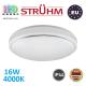 Потолочный светодиодный светильник, Strühm Poland, IP44, 16W, 4000K, накладной, сталь + пластмасса, круглый, белый, RA>80, SOLA LED. ЕВРОПА!