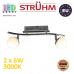 Настенный светодиодный светильник, Strühm Poland, 2x6W, 3000K, накладной, нержавеющая сталь + стекло, хром, RA≥80, NELI LED. ЕВРОПА