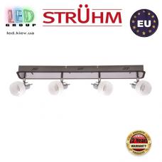 Настенный светильник/корпус, Strühm Poland, накладной, нержавеющая сталь + стекло, хром/венге, RA=100, 4хGU9, EPOS. ЕВРОПА