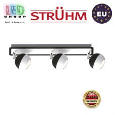 Настенный светильник/корпус, Strühm Poland, накладной, нержавеющая сталь, чёрный/белый, 3хGU10, KOMBI. ЕВРОПА