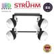 Настенный светильник/корпус, Strühm Poland, накладной, нержавеющая сталь, чёрный/белый, 4хGU10, KOMBI. ЕВРОПА