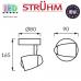Настенный светодиодный светильник, Strühm Poland, 6W, 3000K, накладной, нержавеющая сталь + стекло, круглый, медь/хром, RA≥80, RUDA LED. ЕВРОПА