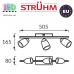 Настенный светодиодный светильник, Strühm Poland, 3x6W, 3000K, накладной, нержавеющая сталь + стекло, медь/хром, RA≥80, RUDA LED. ЕВРОПА
