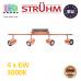 Настенный светодиодный светильник, Strühm Poland, 4x6W, 3000K, накладной, нержавеющая сталь + стекло, медь/хром, RA≥80, RUDA LED. ЕВРОПА