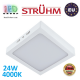 Потолочный светодиодный светильник, Strühm Poland, 24W, 4000K, накладной, сталь + пластмасса, квадратный, белый, RA>80, MARTIN LED D. Польша!