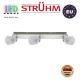 Настенный светильник/корпус, Strühm Poland, накладной, нержавеющая сталь + стекло, хром/белый, RA=100, 3хGU9, KRISTIN. ЕВРОПА