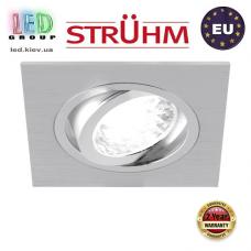 Потолочный светильник/корпус, Strühm Poland, встроенный, алюминий, квадратный, серебряный, 1хGU10, ALUM D. ЕВРОПА