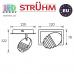 Настенный светодиодный светильник, Strühm Poland, 5W, 3000K, накладной, нержавеющая сталь + акриловое стекло, хром, RA≥80, ARTO LED. ЕВРОПА