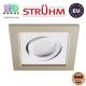 Потолочный светильник/корпус, Strühm Poland, встроенный, алюминий + пластмасса, квадратный, бежевый/белый, 1хGU10, BORYS D. ЕВРОПА