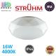 Потолочный светодиодный светильник, Strühm Poland, IP44, 16W, 4000K, накладной, сталь + пластмасса, круглый, белый, RA>80, DIANA LED. Польша!
