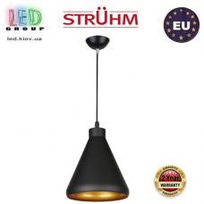 Cветильник/корпус, Strühm Poland, потолочный, подвесной, накладной, сталь + пластмасса, круглый, чёрный, 1xE27, GALAXA. ЕВРОПА