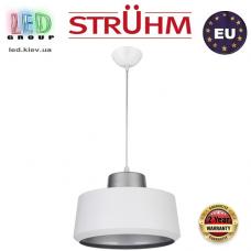 Cветильник/корпус, Strühm Poland, потолочный, подвесной, накладной, сталь + пластмасса, круглый, белый + серебряный, 1xE27, PAULA. ЕВРОПА