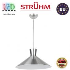Cветильник/корпус, Strühm Poland, IP20, потолочный, подвесной, накладной, сталь + пластмасса, круглый, серебряный, 1xE27, VERONE. ЕВРОПА!