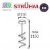 Подвесной светодиодный светильник, Strühm Poland, 8W, 3000K, нержавеющая сталь + пластик, круглый, хром, RA≥80, SIMONA LED CLG. ЕВРОПА