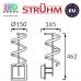 Настенный светодиодный светильник, Strühm Poland, 10W, 3000K, накладной, нержавеющая сталь + пластик, круглый, хром, RA≥80, SIMONA LED WLL. ЕВРОПА